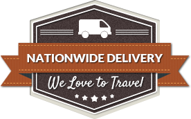 Nationwide delivery we love to travel